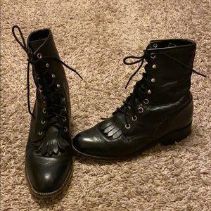 Justin Fringe Boots